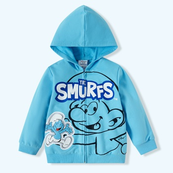 Smurfs Toddler Boy 100% Cotton Hooded Sweatshirt