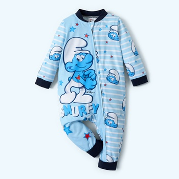 Smurfs Smurfy Stripe Cotton Zip Front One Piece