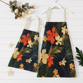 Floral Print Family Matching Aprons