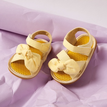 Baby / Toddler Solid Bowknot Velcro Closure Sandals