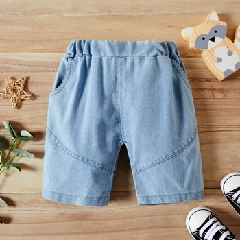 1pc Baby Boy Solid Cotton Cowboy Summer Spring Autumn Baby Pants