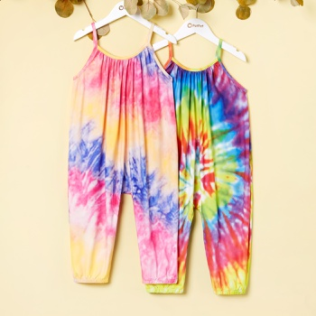 Toddler Girl Casual Tie Dyed Jumpsuit