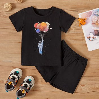 2-piece Toddler Boy Balloon Print Tee and Shorts Set