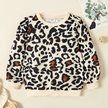 Kid Girl Leopard Sweatshirt
