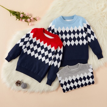 Baby / Toddler Causal Plaid Long-sleeve Sweater