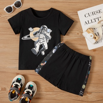 2-piece Toddler Boy Astronaut Tee and Shorts Set