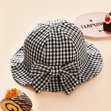 Baby / Toddler Bowknot Grid Hat