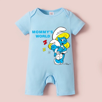 Smurfs Baby Boy/Girl Mother's Day 100% Cotton Romper