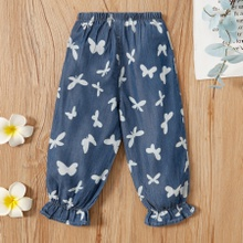Baby Girl casual Animal Harem pants Cotton Jeans
