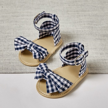 Baby / Toddler Grid Bowknot Velcro Closure Sandals