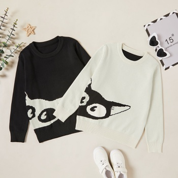 Trendy Cute Fox Print Sweaters