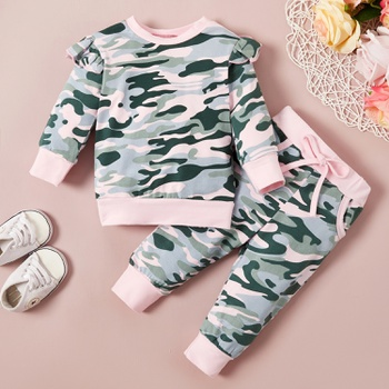 Baby Girl Camouflage Baby's Sets