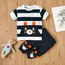 2pcs Baby Boy Short-sleeve Cotton casual Animal Baby's Sets