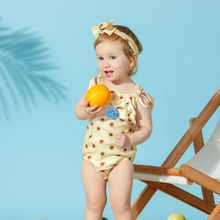 2-Piece Baby Strappy Romper and Headband Set