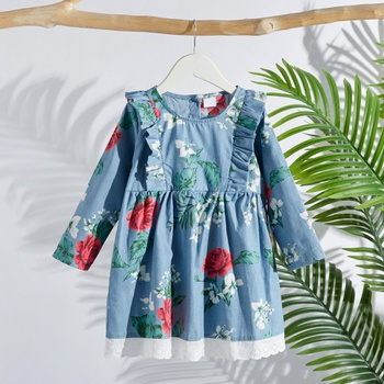 Baby / Toddler Vintage Floral Ruffled Dress
