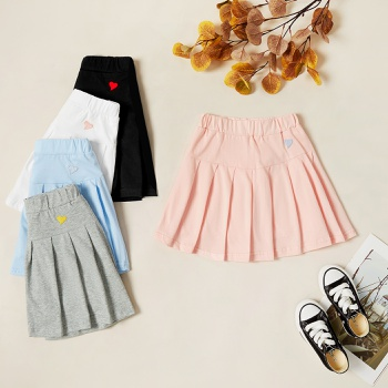 Kids Girl Love Elasticized Skirt