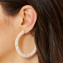 Shining Glitter Hoop Earrings
