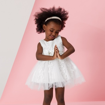 Baby / Toddler Lace Sleeveless Mesh Party Dress