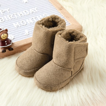 Baby / Toddler Solid Fleece-lining Velcro Closure Snow Boots