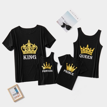 Royal Crown Series Family Matching Tops